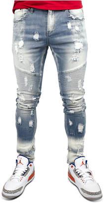 Heritage America Men Distressed Moto Jeans