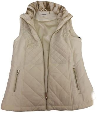 Calvin Klein Ecru Faux fur Jackets