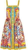 Dolce & Gabbana Printed Cotton-Poplin Midi Dress