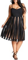City Chic Pretty Pleat Dress (Plus Size)