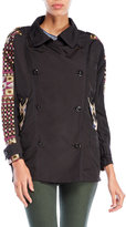 Custo Barcelona Embroidered Trench Coat