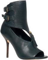 Max Studio Equis Burnished Leather Ankle Cuff Booties