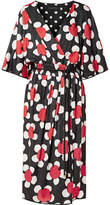 Marc Jacobs Daisley Floral-print Stretch-jersey Midi Dress - Red