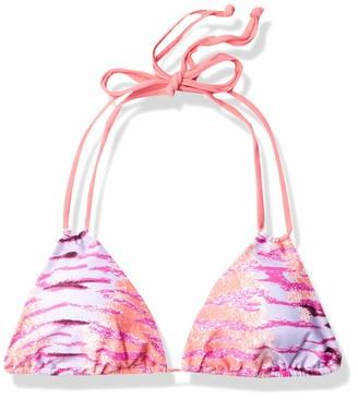 Sauvage Women's Tiger Knotted Triangle Bikini Top