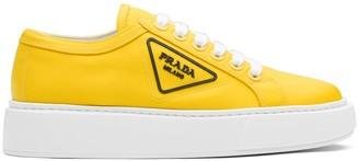 Prada Logo Patch Platform Sneakers