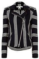 Veronica Beard Bailey Striped Moto Jacket