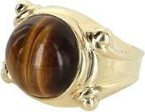 One Kings Lane Vintage Tigers Eye Cocktail Ring 14k Gold