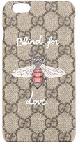 Gucci Blind for Love iPhone 6 Plus case - women - Cotton - One Size