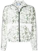 Andrea Crews zipped slogan jacket