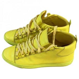Balenciaga Arena Yellow Leather Trainers