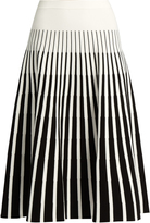 Tomas Maier Stripe-intarsia fluted skirt