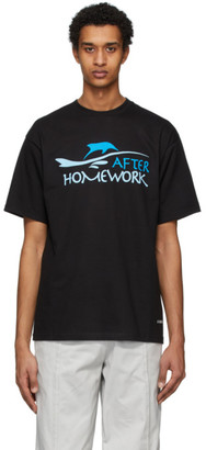 Afterhomework SSENSE Exclusive Black Image Back T-Shirt