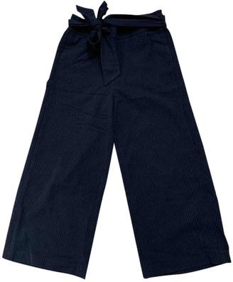 Zara Blue Polyester Trousers