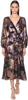 Temperley London Fil Coupe Wrap Midi Dress