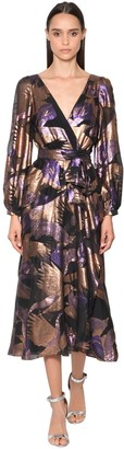Temperley London Fil Coupe Wrap Midi Dress
