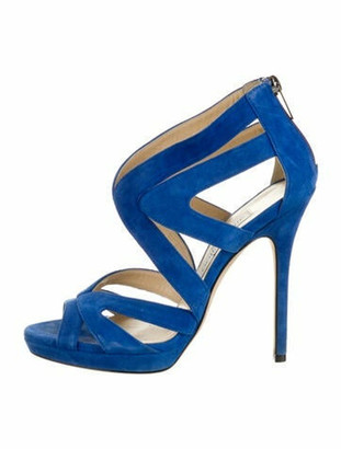 Jimmy Choo Suede Sandals Blue