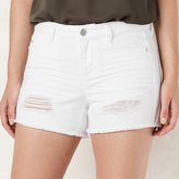 Lauren Conrad Women's Frayed Jean Shorts