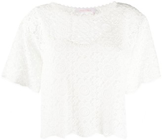 See by Chloe lace T-shirt