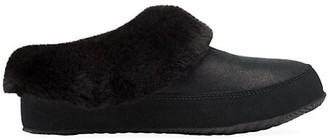 Sorel Go Coffee Run Faux Fur-Lining Suede Slippers