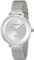 Stuhrling Original Women's 589.01 Symphony Diamond-Accented Stainless Steel Watch