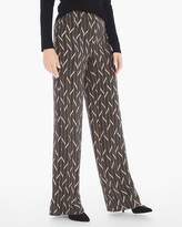 Chico's Elevated Miter-Print Wide-Leg Pants