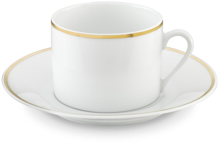 Williams-Sonoma Apilco Gold Rimmed Cups & Saucers, Set of 4