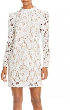 WAYF Emma Puff Sleeve Lace Dress