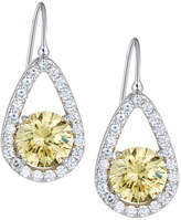 FANTASIA Teardrop Crystal Dangle Earrings, Yellow