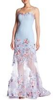 Forever Unique Blush Embroidered Floral Mesh Dress