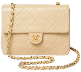 Chanel Vintage Beige Quilted Lambskin Classic Flap New Mini