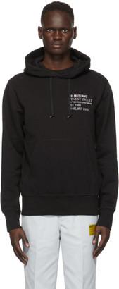 Helmut Lang Black Embroidered Standard Hoodie