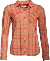Converse Womens Workwear Button Down Checked Long Sleeve Shirt Hibiscus Multi