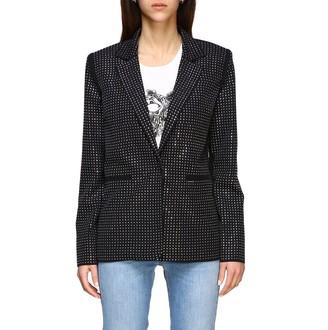 Pinko Dylan Dog Jacket In Crystal Fabric