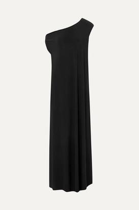 Norma Kamali Off-the-shoulder Stretch-jersey Maxi Dress - Black