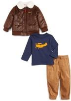 Little Me Infant Boy's Aviator Bomber Jacket, Top & Pants