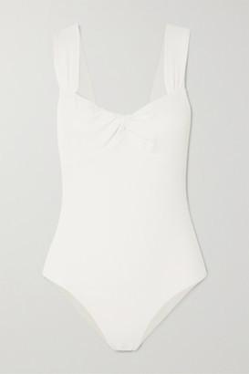 Marysia Swim Lehi Twist-front Stretch-crepe Swimsuit - White