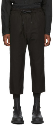 D.gnak By Kang.d Black High-Rise Loose Trousers