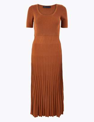 Marks and Spencer Knitted Fit & Flare Dress