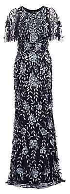 Theia Women's Petal Applique Gown