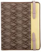 Valentino Leather-Trimmed Canvas iPad Case
