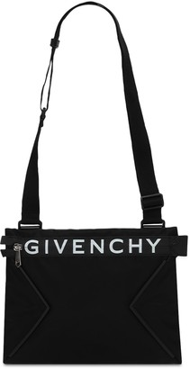 Givenchy Logo Zip Nylon Crossbody Bag