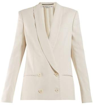 Stella McCartney Shawl-lapel Double-breasted Snake-jacquard Blazer - Womens - Ivory