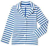 Petit Bateau Girls Breton jacket in striped jersey