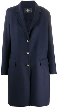Etro Single Breasted Midi Coat