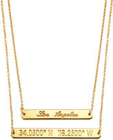 Coordinates Collection 22k Gold-Plated Layered Equator Pendant Necklace