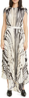 Proenza Schouler Brushstroke Print Pleated Dress
