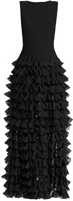 Alaia Tiered Ruffle Gown