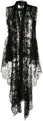Marc Le Bihan Sleeeveless Lace Jacket