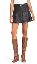 Free People Women's Faux Leather Miniskirt