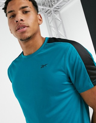 Reebok WOR shorts sleeve tech t-shirt in seaport teal